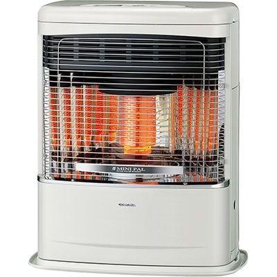 コロナ クイックパルスバーナ搭載でお部屋をスピーディに暖め。 FF式輻射 ミニパル(V)シリーズ トップクールタイプ<別置タンク式(別売)>【木造11畳/コンクリート18畳】 FF-VT4218P-W