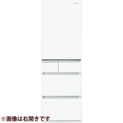 パナソニック 450Lパーシャル搭載 冷蔵庫スノーホワイト(左開き) NR-E454PXL-W