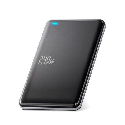 エレコム 外付けSSD/ポータブル/USB3.1(Gen1)対応/240GB/ブラック ESD-ED0240GBK