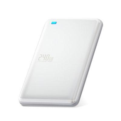 エレコム 外付けSSD/ポータブル/USB3.1(Gen1)対応/240GB/ホワイト ESD-ED0240GWH