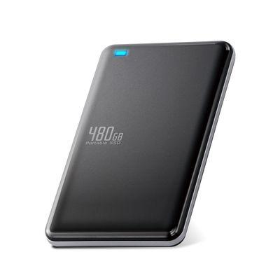 エレコム 外付けSSD/ポータブル/USB3.1(Gen1)対応/480GB/ブラック ESD-ED0480GBK