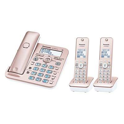 パナソニック RU・RU・RU コードレス電話機 (子機2台付き) (ピンクゴールド) VE-GD56DW-N