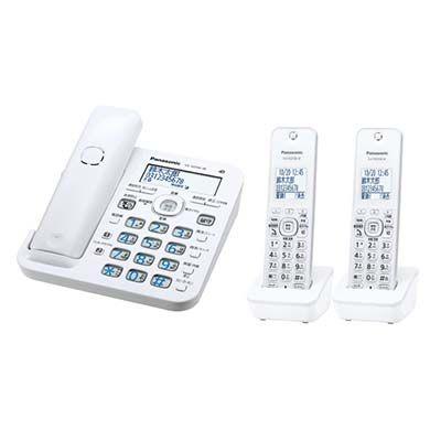 パナソニック RU・RU・RU コードレス電話機 (子機2台付き) (ホワイト) VE-GD56DW-W