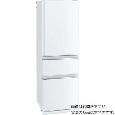三菱電機 3ドア 365L 幅60cmのスリムタイプ 冷蔵庫 (右開き) (パールホワイト) MR-CX37DL-W