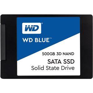 その他 WESTERN DIGITAL(SSD) WD Blue 3D NANDシリーズ SSD 500GB SATA 6Gb/s 2.5インチ7mm cased 国内正規代理店品 WDS500G2B0A ds-2092580