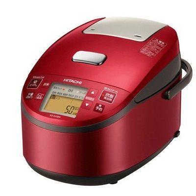 日立 5.5合炊き『黒厚鉄釜』圧力スチームIH炊飯器(メタリックレッド) RZ-AX10M-R【納期目安:04/23入荷予定】