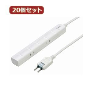 その他 YAZAWA 20個セット 3P対応スリムタップ5個口 Y02YJKP502WHX20 ds-2102957