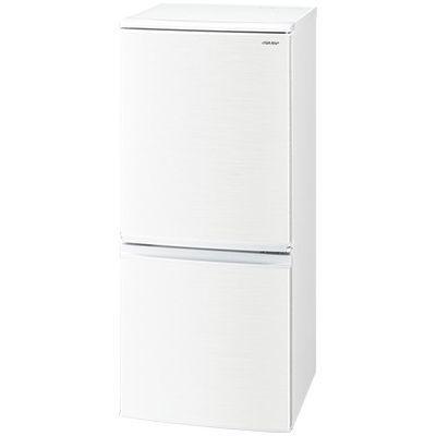 シャープ 137L 冷蔵庫 ドア開閉左右付替 2ドア (ホワイト系) SJ-D14E-W【納期目安:約10営業日】