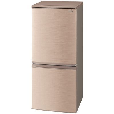 シャープ 137L 冷蔵庫 ドア開閉左右付替 2ドア (ブロンズ系) SJ-D14E-N【納期目安:2週間】