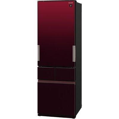 シャープ 415L 4ドア冷蔵庫 どっちもドア (グラデーションレッド) SJ-GT42E-R【納期目安:約10営業日】