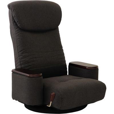 ヤマソロ 木製ボックス肘付回転座椅子【松風-まつかぜ-】(グレー) 83-872