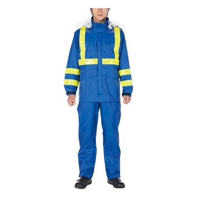 SPRUCE(スプルース) レインスーツ 高視認スプルーススーツ ブルー M FF-04072