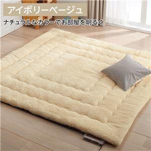 送料無料 その他 返品不可 ふっかふか ラグマット 絨毯 アイボリーベージュ ボリュームタイプ 床暖房可 ホットカーペット 期間限定で特別価格 ds-2110460 200cm×240cm 3畳用 長方形
