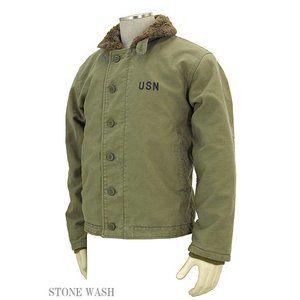 その他 米軍 「N-1」 DECK ジャケット 《ストーンウォッシュ加工》 JJ105YNWS カーキ 40(XL)サイズ 【レプリカ】 ds-1031641