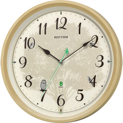 リズム時計 日本野鳥の会 四季の野鳥 報時時計409(木目仕上) 8MN409SR06