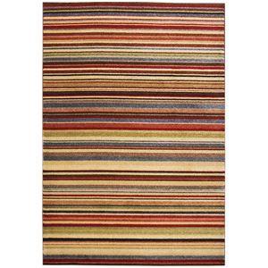 その他 トルコ製 ラグマット/絨毯 【ストライプ柄 140cm×200cm】 長方形 ウィルトンラグ 『AURA オーラ』 〔リビング〕【代引不可】 ds-2113363