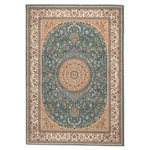その他 ウィルトン織 ラグマット/絨毯 【160cm×230cm ブルー】 長方形 トルコ製 高耐久 『ローサマルカンド』 〔リビング〕 ds-2113441