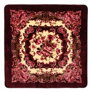 その他 花柄 ラグマット/絨毯 【200cm×300cm ワインレッド】 長方形 ホットカーペット 床暖房対応 『リオ3』 ds-2113601
