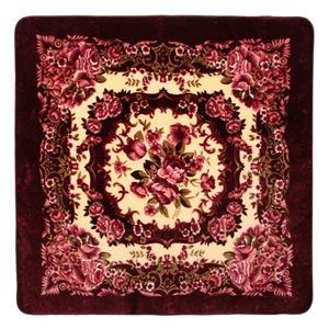その他 花柄 ラグマット/絨毯 【230cm×330cm ワインレッド】 長方形 ホットカーペット 床暖房対応 『リオ3』【代引不可】 ds-2113605