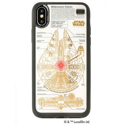 アイアップ STAR WARS スター・ウォーズ グッズコレクション FLASH M-FALCON 基板アート iPhone Xケース 白 F10W