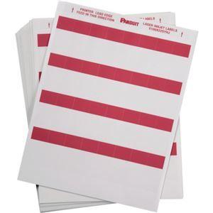 その他 パンドウイットレーザープリンタ用セルフラミネートラベル 赤 S100X225YHJ 1箱(1000枚) ds-2114664