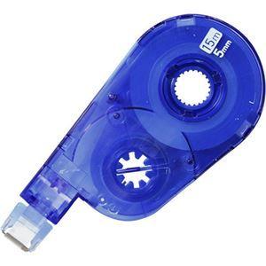 その他 (まとめ) プラス 修正テープ ホワイパースイッチ交換テープ(簡易パッケージ) 5mm幅×15m ブルー WH-1515R BL 1セット(10個) 【×5セット】 ds-2115827