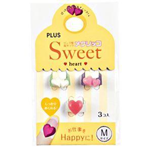 その他 (まとめ) プラス メクリッコ Sweet ハート2M パールホワイト・ピンク・ローズ KM-302SA-3 1袋(3個:各色1個) 【×30セット】 ds-2116161