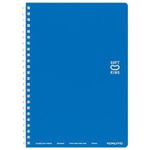 その他 (まとめ) コクヨソフトリングノート(ドット入り罫線) A5 B罫 50枚 ブルー ス-SV331BT-B 1冊 【×30セット】 ds-2117528