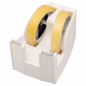その他 (まとめ) ライオン事務器 テープカッター(フリス)2連 太巻用 112×171×92mm ホワイト TC-30 1台 【×5セット】 ds-2120289