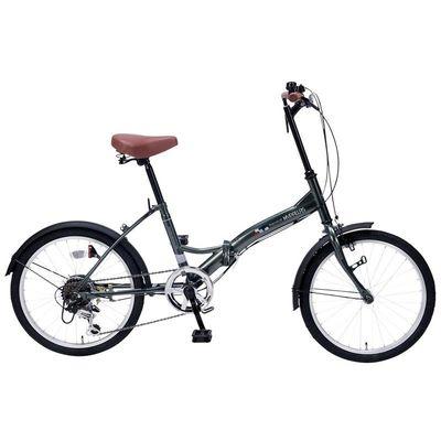 マイパラス 最もシンプルでスタンダードなスペシャルバリューバイシクル 折畳自転車20インチ・6段ギア (セージグリーン) M-205-GR【納期目安:12/12入荷予定】
