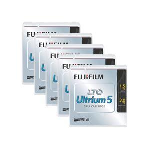 その他 富士フイルム LTO Ultrium5データカートリッジ バーコードラベル(横型)付 1.5TB LTO FB UL-5 OREDPX5Y1パック(5巻) ds-2125862