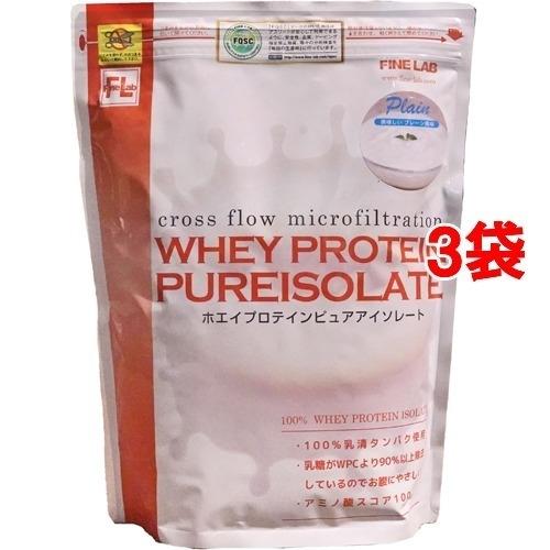ファインラボ ファインラボ ホエイプロテイン ピュアアイソレート プレーン風味 1kg*3コセット 26970