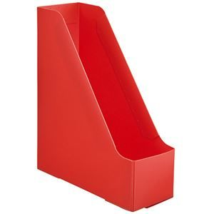 その他 (まとめ)TANOSEEPP製ボックスファイル(組み立て式) A4 タテ レッド 1個 【×30セット】 ds-2127473