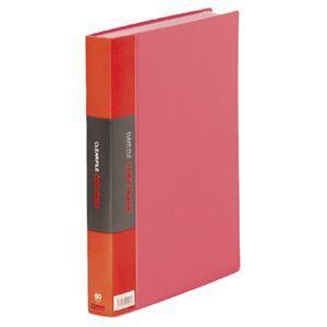 その他 キングジム カラーベーストリプルA4タテ 60ポケット 背幅35mm 赤 132-3C 1セット(5冊) ds-2130320