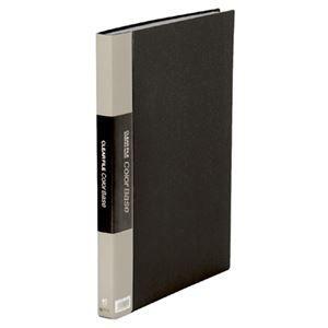 その他 キングジム クリアーファイルカラーベースW B4タテ 40ポケット 背幅27mm 黒 142CW 1セット(5冊) ds-2130342