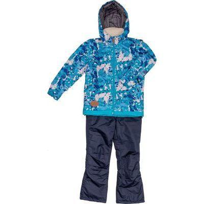 ジョイライド 子供(女の子)スキーウエア 上下組 (青色140) JOG-4345-L140