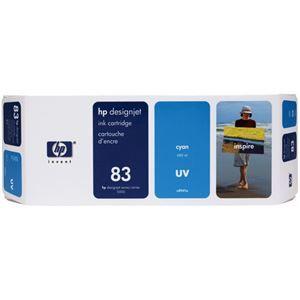 その他 HP HP83 インクカートリッジUVシアン 顔料系 C4941A 1個 ds-2142993