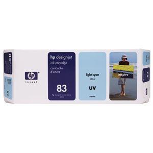 その他 HP HP83 インクカートリッジUVライトシアン 顔料系 C4944A 1個 ds-2142994
