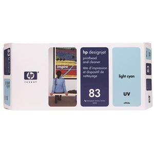 その他 HP HP83プリントヘッド/クリーナーUV ライトシアン C4964A 1個 ds-2143331