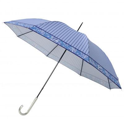 その他 【60個セット】ストライプフラワー晴雨兼用長傘 2023752