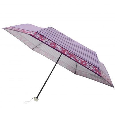 その他 【60個セット】ストライプフラワー晴雨兼用折りたたみ傘 2023753