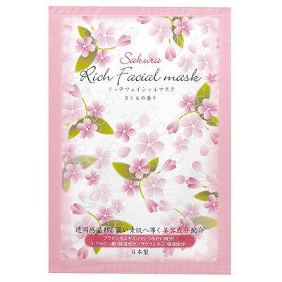 その他 【600個セット】リッチフェイスマスク(桜の香り) 2214039