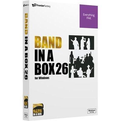 フロンティアファクトリー Band-in-a-Box 26 for Windows EverythingPAK PGBBQEW111【納期目安:1週間】