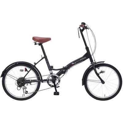 その他 折畳自転車20インチ6段ギア マットブラック MRTS-33347BK