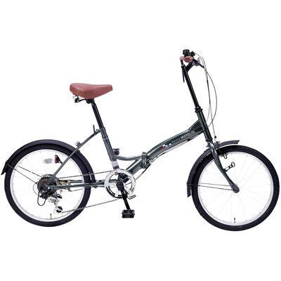 その他 折畳自転車20インチ6段ギア セージグリーン MRTS-33347GE