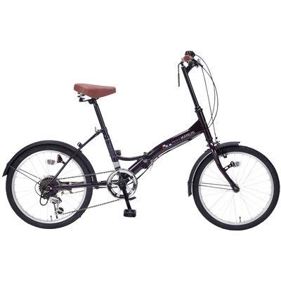 その他 折畳自転車20インチ6段ギア ディープパープル MRTS-33347PP