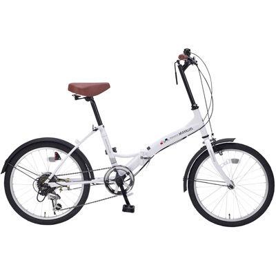 その他 折畳自転車20インチ6段ギア シルキーホワイト MRTS-33347WH