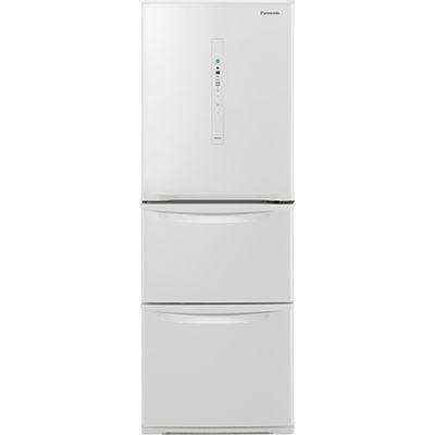 パナソニック 3ドア 右開き 335L ノンフロン冷蔵庫 ピュアホワイト NR-C340C-W