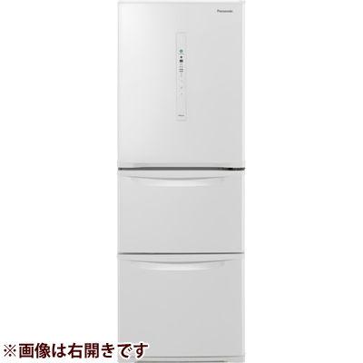 パナソニック 3ドア 左開き 335L ノンフロン冷蔵庫 ピュアホワイト NR-C340CL-W
