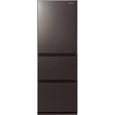 パナソニック ノンフロン冷蔵庫3ドア335Lダークブラウン NR-C340GC-T